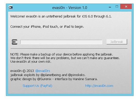 evasi0n iOS 6.1 untethered Jailbreak