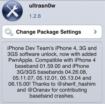 ultrasn0w 1.2.8 Unlock