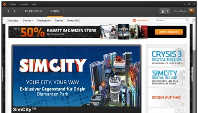 SimCity in Origin