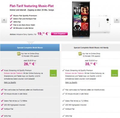 Telekom Special Complete Mobil Music