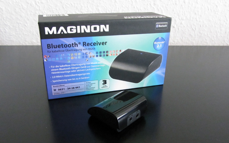 supra maginon btr 1 bluetooth receiver im test early. Black Bedroom Furniture Sets. Home Design Ideas