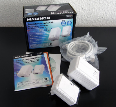Maginon Powerline Adapter-Kit Lieferumfang