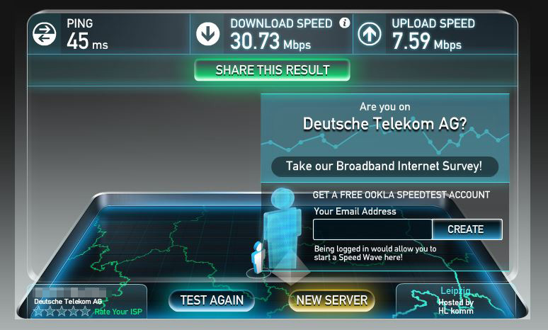 Speedtest: WLAN-Stick zu Powerline Adapter