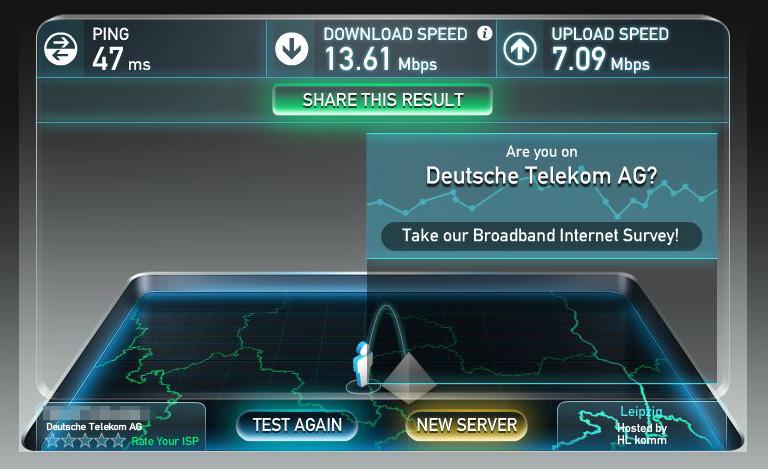 Speedtest: Bisher genutzter WLAN-Stick zu Router