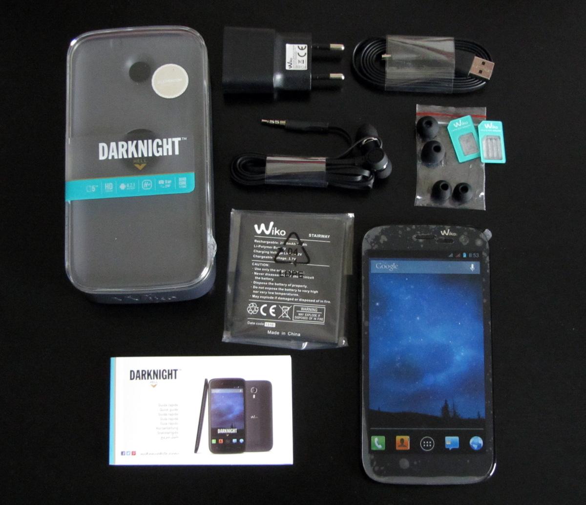 Wiko Darknight – 5 Zoll Android Dual-SIM Smartphone im ...