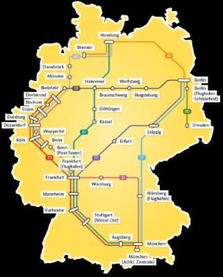 ADAC Postbus Haltestellen Karte