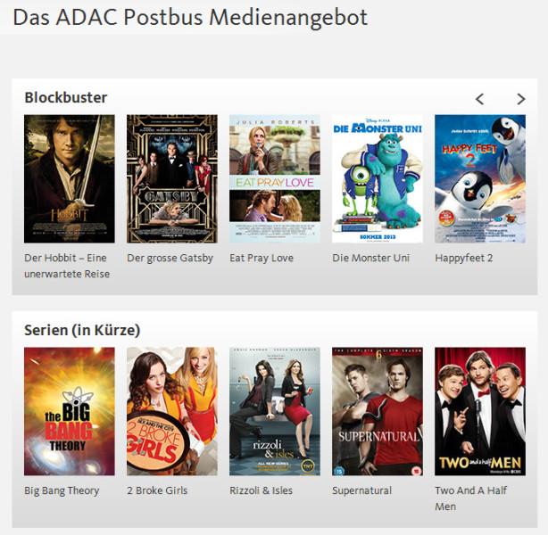 ADAC Postbus Medienangebot