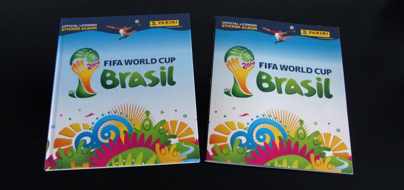 Panini WM 2014 Hardcover Album Vergleich (2)