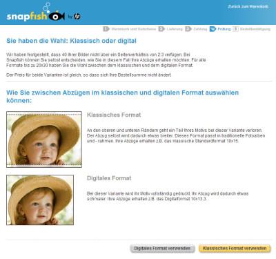 Snapfish Abzüge bestellen