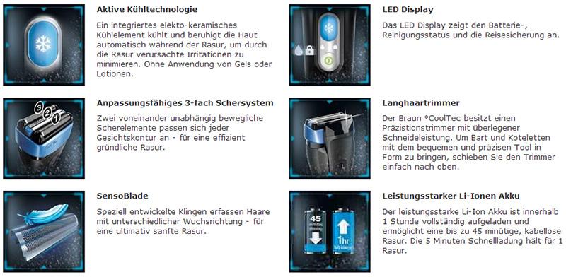 Braun CoolTec Eigenschaften
