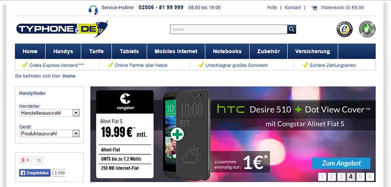 Typhone.de Congstar Allnet Flat S Angebot