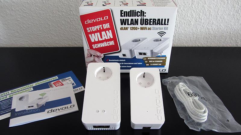 devolo dLAN 1200+ WiFi ac Starter Kit Lieferumfang
