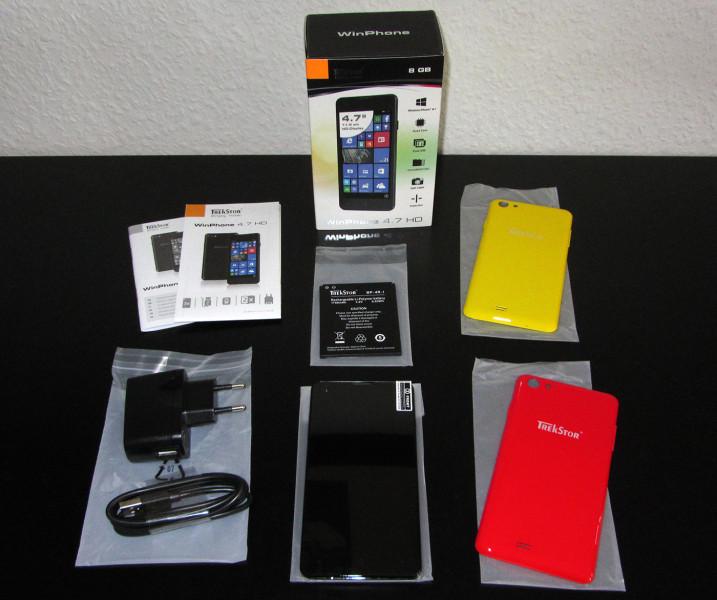 TrekStor WinPhone 4.7 HD Lieferumfang