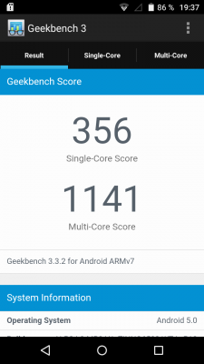 Wiko Rainbow Up Geekbench 3 Benchmark